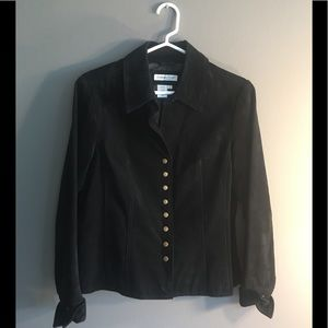❤️2 for $40❤️Black Suede Coldwater Creek Jacket